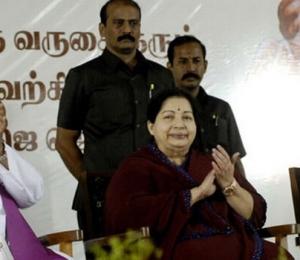 J.Jayalalithaa attending a function