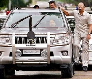Tamil Nadu CM J Jayalalithaa traveling