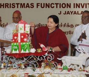 Jayalalithaa speaks at the Christmas celebrations