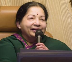 Tamil Nadu Chief Minister Jayalalithaa speaks
