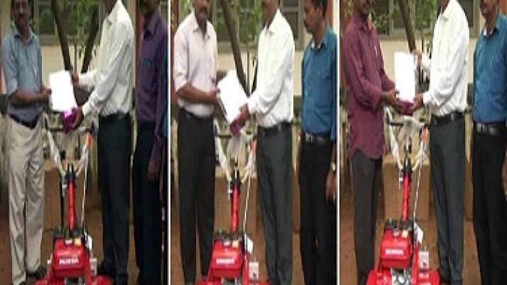 கன்னியாகுமரி மாவட்டத்தில், அரசு மானியத்துடன் நவீன களை எடுக்கும் இயந்திரங்கள் வழங்கப்பட்டன: விவசாயிகள் முதலமைச்சர்  ஜெயலலிதாவுக்கு நன்றி