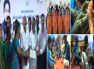 பெண்களின் வாழ்க்கை தரம் உயர தொடர் நடவடிக்கை:முதலமைச்சர் ஜெயலலிதா உத்தரவின்படி, இல்லத்தரசிகளுக்கு உதவித் தொகையுடன் கலைப் பொருட்கள் தயாரிக்கும் பயிற்சி