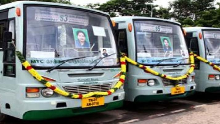 சென்னை  மாநகர பேருந்துகளில் நாளை முதல் டிசம்பர் 8 வரை பொதுமக்கள் கட்டணம் இல்லாமல் பயணிக்கலாம்:முதல்வர் ஜெயலலிதாஅதிரடி உத்தரவு