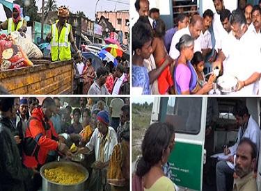 வெள்ளத்தால் பாதிக்கப்பட்டுள்ள பகுதிகளில்,முதலமைச்சர் ஜெயலலிதா உத்தரவின்பேரில் மீட்பு, நிவாரணம் மற்றும் சீரமைப்புப் பணிகள் தீவிரம் : அமைச்சர்கள் மற்றும் உயரதிகாரிகள் நேரில் ஆய்வு