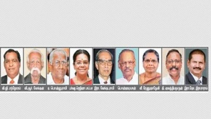 தமிழ் வளர்ச்சிக்கு பாடுபட்ட 9 அறிஞர்களுக்கு விருதுகள்: முதலமைச்சர் ஜெயலலிதா அறிவிப்பு