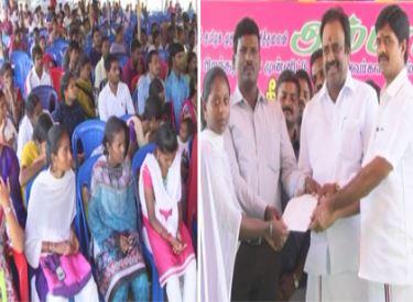 முதலமைச்சர் ஜெயலலிதா உத்தரவின்படி, நடைபெற்ற வேலைவாய்ப்பு முகாமில், 260 பேருக்கு பணி ஆணைகள் வழங்கப்பட்டன