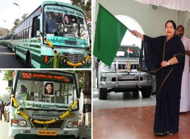 ரூ.144 கோடி செலவில் 701 புதிய பஸ்கள்–65 மினி பஸ்கள்:முதலமைச்சர் ஜெயலலிதா தொடங்கி வைத்தார்
