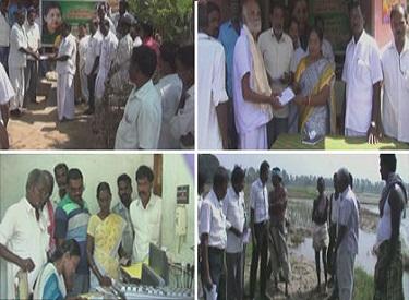 முதலமைச்சர் உத்தரவுப்படி, நாகை மாவட்டத்தில்,வெள்ளத்தால் பாதிக்கப்பட்ட பயிர்களுக்கு சுமார் 15 கோடி ரூபாய் நிவாரண உதவி வழங்கும் பணி தொடங்கியது