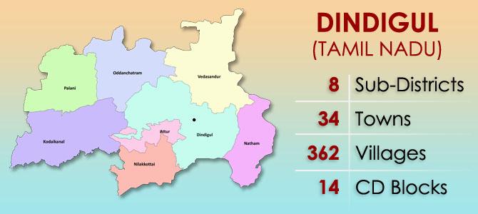 Dindigul District Map