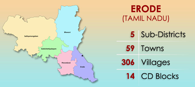 Erode District Map