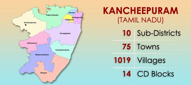 Kancheepuram District Map