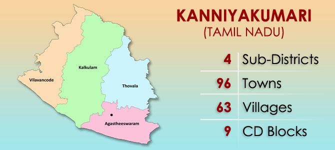 Kanyakumari District Map