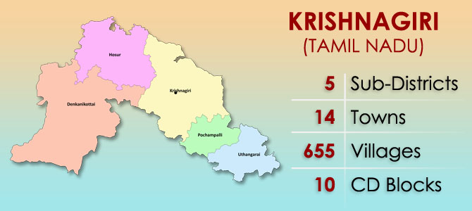 Krishnagiri District Map