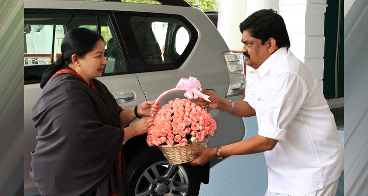MLA Mr. K.T. Rajenthra Bhalaji with CM