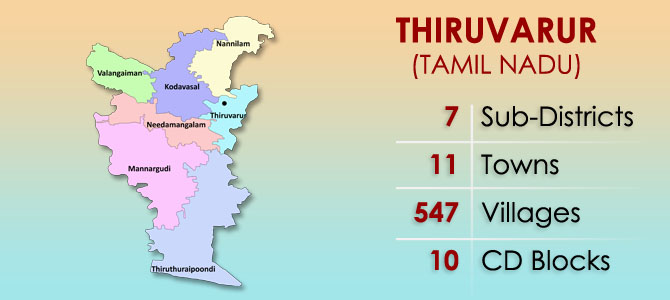 Thiruvarur District Map