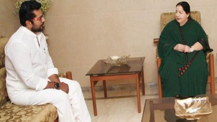 சமத்துவ மக்கள் கட்சி அ.இ.அ.தி.மு.க.வுக்கு, ஆதரவு : முதலமைச்சர் ஜெயலலிதாவை சந்தித்த பின் சரத்குமார் அறிவிப்பு