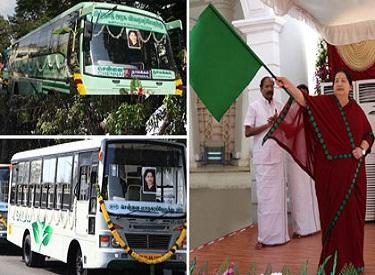 109 புதிய பேருந்துகள், 40 புதிய சிற்றுந்துகள் ஆகியவற்றை முதலமைச்சர் ஜெயலலிதா இன்று துவக்கி வைத்தார்