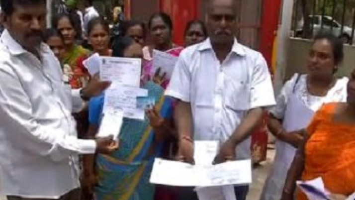 ஆர்.கே.நகர் தொகுதி பாமக வேட்பாளர் ஆக்னஸ் மீது காவல் ஆணையர் அலுவலகத்தில் மோசடி புகார்