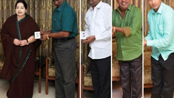 தி.மு.க., த.மா.கா.உள்ளிட்ட கட்சிகளைச் சேர்ந்தவர்கள் முதலமைச்சர் ஜெயலலிதாவை சந்தித்து தங்களை அ.தி.மு.க.வில் இணைத்துக் கொண்டனர்