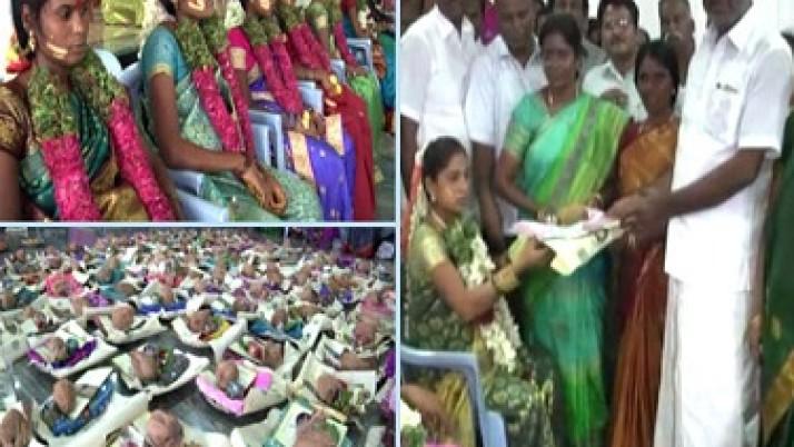 முதல்வர் ஜெயலலிதா உத்தரவின்பேரில் வேலூரில் 300-க்கும் மேற்பட்ட கர்ப்பிணிப் பெண்களுக்கு சீர்வரிசைகள் வழங்கப்பட்டன
