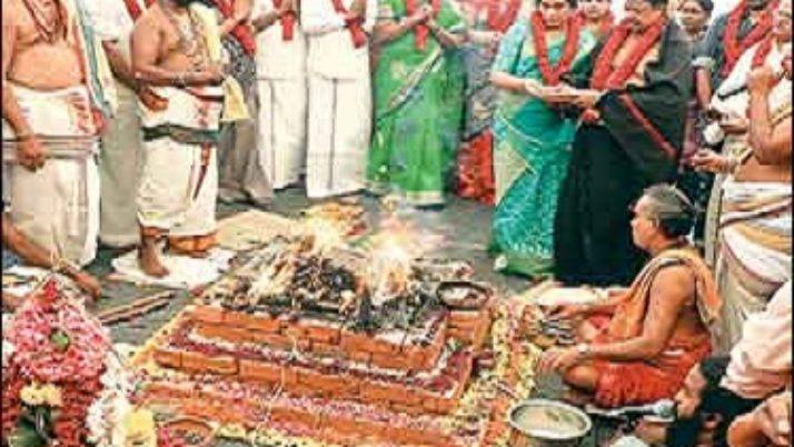 முதல்வர் ஜெயலலிதா குணம் அடைய வேண்டி 9 நவதானியங்கள்,108 வகை மூலிகைகளுடன்  மகா யாகம்