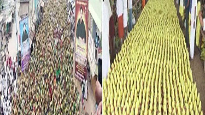 முதலமைச்சர் ஜெயலலிதா விரைவில் நலம் பெற வேண்டி,ஆயிரக்கணக்கான பெண்கள் பால்குடம் எடுத்து வழிபாடு