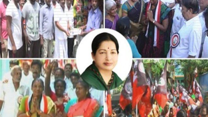 உள்ளாட்சித் தேர்தலில் அ.தி.மு.க. வேட்பாளர்கள்,முதலமைச்சர் ஜெயலலிதா தலைமையிலான அரசின் சாதனைகளை கூறி தீவிர வாக்கு சேகரிப்பு