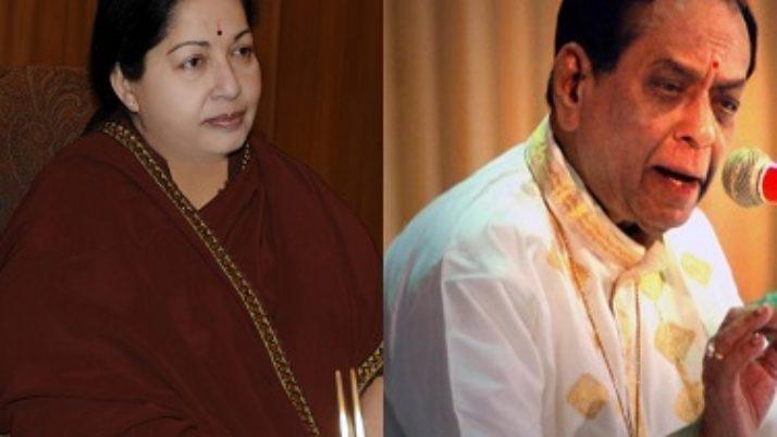 இசைமேதை பாலமுரளி கிருஷ்ணா மறைவு : முதலமைச்சர் ஜெயலலிதா இரங்கல்