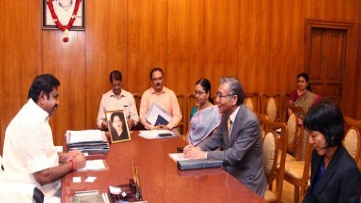 முதலமைச்சர் எடப்பாடி பழனிசாமியுடன் சிங்கப்பூர், ஜப்பான் தூதர்கள் சந்திப்பு
